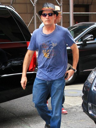 Charlie Sheen in New York last year