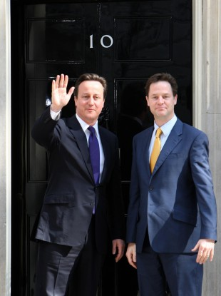 David Cameron and Nick Clegg in May 2010
