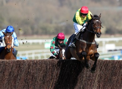 Andrew Lynch guides Sizing Europe to victory in last year's Arkle Chase at Cheltenham.
