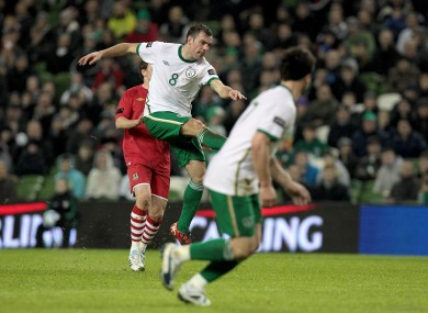 Darron Gibson unleashes hell to wake us all up. It really was a cracker.