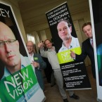 Eamonn Blaney, Paul Doonan and Nick Crawford, left to right, are three of the new group of independents named 'New Vision' who launched their Election 2011 campaign this week.