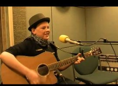 Mark Boylan performing his song on The John Murray show.