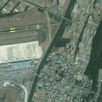 An overhead photo of Sendai airport, 2003.
