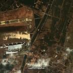 An overhead photo of Sendai airport, 2011.