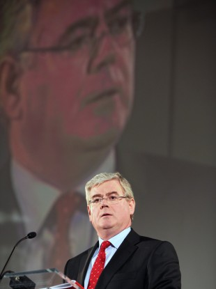 Eamon Gilmore speaking at the Labour special delegate conference today