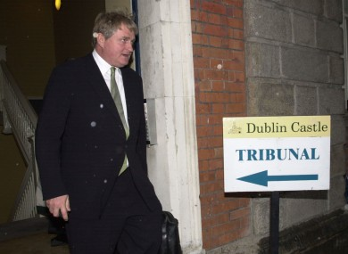 Denis O'Brien leaves the Moriaty Tribunal at Dublin Castle after questioning in 2003.