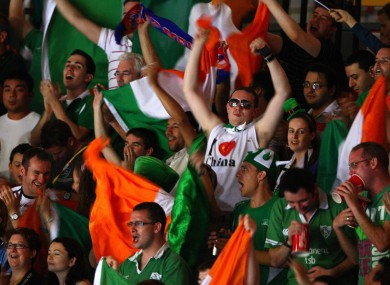 The Irish at the Beijing Olympics in 2008, but there will be no celebration of Irish traditions in Shanghai this year
