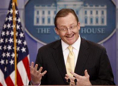 Gibbs served as White House press secretary under President Barack Obama for just over two years.