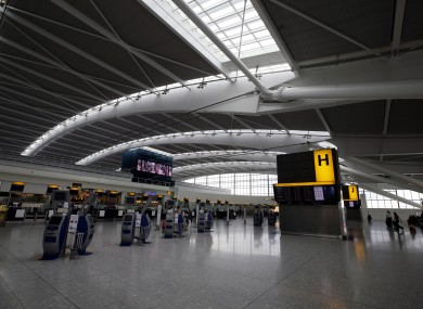 Terminal 5 at Heathrow Airport. File Photo