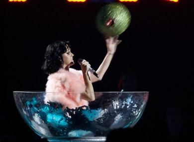 Katy Perry performs at the 2009 EMAs in Berlin - this year's awards will take place in Belfast, the station has confirmed.