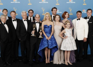 Photo of Mad Men cast in August 2010.