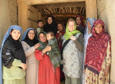 Danny Harvey with women of the shura council in Shar Shuri village, Kalafghan, Afghanistan