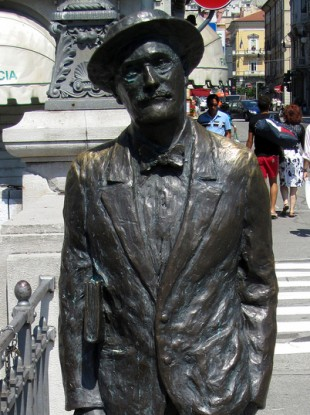 A statue of James Joyce in Trieste. Joyce lived in the northern Italian town in 1919 when he wrote the auctioned letter to Carlo Linati.