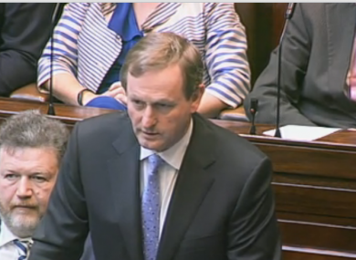 Enda Kenny has been the main questioner at Leaders' Questions since 2002 - but will be answering questions from the other side of the Dáil today.