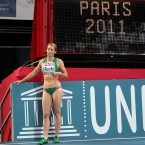 Derval O'Rourke takes time out ahead of the European Athletics Indoor Championships in Paris. <span class=