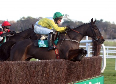 Robert Michael Power on Newmill in Leopardstown in 2008 - Newmill is fancied to take victory in the Shamrock Paddy Chase at Gowran Park today.