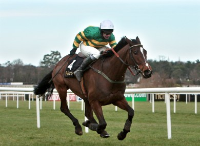 David Casey wins the Hennessy Gold Cup on Kempes last month.