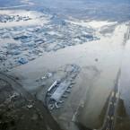 Sendai Airport tarmac submerged in Miyagi Prefecture (AP Photo/Kyodo News)