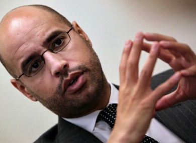 The envoy is reported to have been an aide to Saif al-Islam Gaddafi, (pictured) son of Muammar Gaddafi.