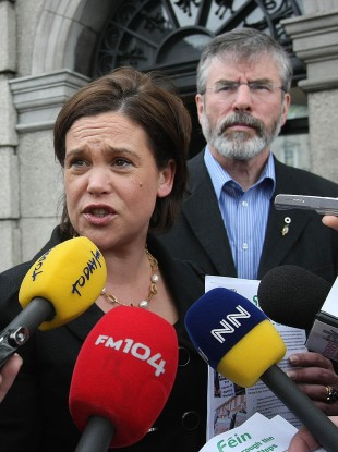 Sinn Féin's Mary Lou McDonald and Gerry Adams
