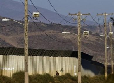 Part of the Tijuana border, Mexico