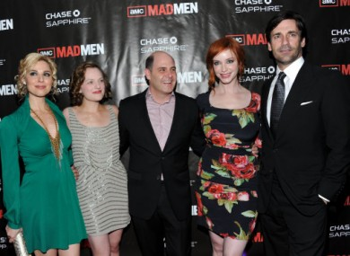 Some of the Mad Men cast with Matthew Weiner, centre, series creator and executive producer.