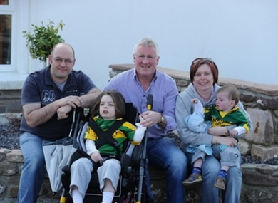 The Heffernan family - Tony, Saoirse, Mary and Liam - pictured with Pat Spillane