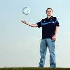 Dublin's Tomas Quinn met the press ahead of today's league final with cork at Croke Park.
