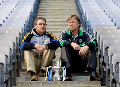 Ger O'Loughlin and Limerick counterpart Donal O'Grady at Croke Park this week.