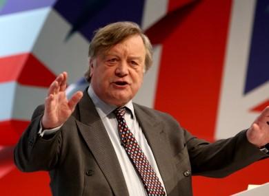 British Justice secretary Ken Clarke