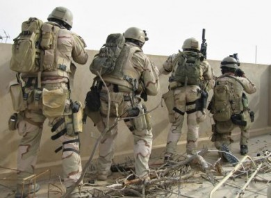 File photo of an unidentified US navy SEALs team in Iraq in 2006.