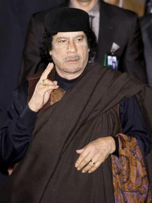 Gaddafi in Russia in 2008