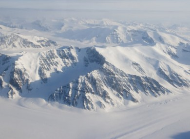 Aerial view of the northern Arctic.