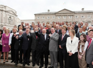 The members of the 24th - and possibly last - Seanad pose before their first meeting last week.