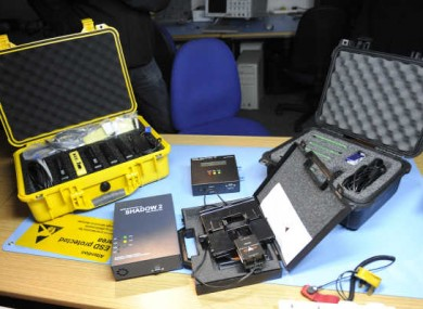 Some of the instruments for fighting cybercrime on display at