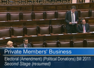 It was a quiet evening in the Dáil - and there were, for a few minutes, no Fianna Fáil TDs around to speak on their own bill.