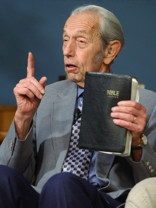 Any plans for the weekend? Harold Camping speaks on television in 2002