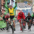 Race leader Gediminas Bagdonas wins today's stage into Castletownbere.