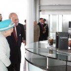 Queen Elizabeth II and the Duke of Edinburgh receiving a pint of Guinness from master brewer Fergal Murray at the Guinness Storehouse. (Pic: Maxwells)