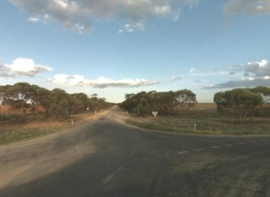 The accident is reported to have occurred around 500 metres down from this intersection of road in Victoria.