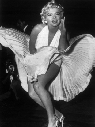 Marilyn Monroe's dress from The Seven Year Itch showed a remarkable amount of female flesh for a film made in 1955.