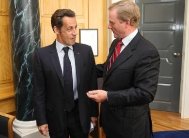 File photo of Enda Kenny meeting with France's Nicolas Sarkozy .