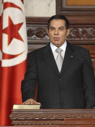 Zine El Abidine Ben Ali in 2009 just after he was elected for a fifth time.