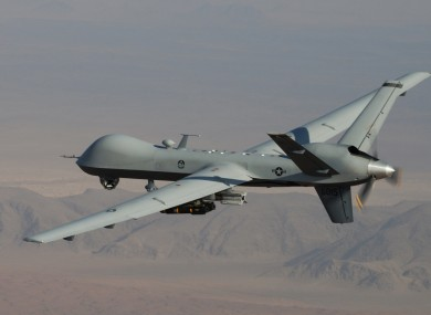 A US drone was used to carry out the airstrike.