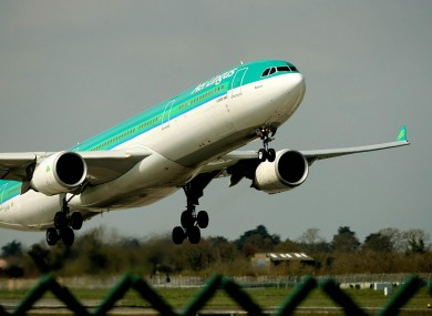 Aer Lingus flights are taking off as normal today (File photo)
