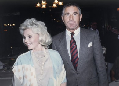 Actress Zsa Zsa Gabor and Prince Fredrick Von Anhalt, in 1986