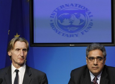 David Hawley (left) and Ajai Chopra of the IMF: the hack attack on the IMF was confirmed by Hawley over the weekend.