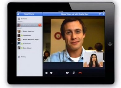 What Skype on the iPad will look like