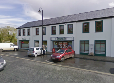 File photo of the Costcutter shop in Balla, the scene of yesterday's shooting.