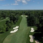 This hole will play the same yardage as it did in 1997, but the fairway bunkers have been moved farther down the drive zone. Those who avoid the bunkers will have an opportunity to reach the green in two shots. However, a misplayed shot to this elevated putting surface in any direction will translate into a ball that rolls down the hill, as a closely mown area was recently instituted that surrounds the green. While birdies and eagles are possible, one misstep could lead to a bogey or worse. It is very possible that the 16th hole could determine the outcome of the U.S. Open.